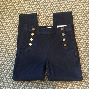 LOFT button front skinny jeans NWT
